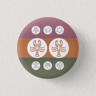 Zodiac Astrology Symbol : BirthStar Goodluck Charm Button