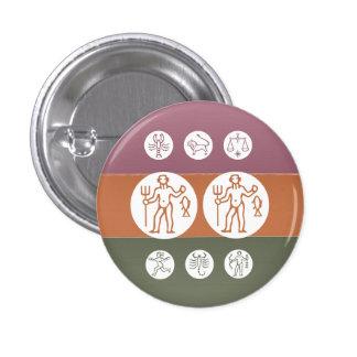 Zodiac Astrology Symbol : BirthStar Goodluck Charm Pins