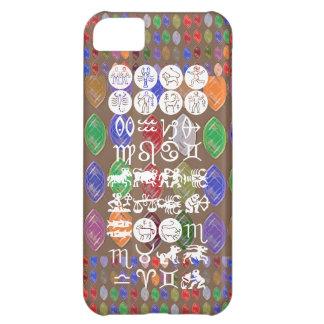 Zodiac Astrology Symbol : BirthStar Goodluck Charm Cover For iPhone 5C