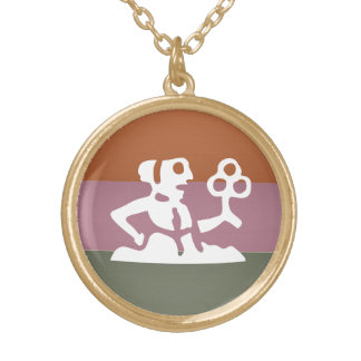 Zodiac Astrology Symbol : BirthStar Goodluck Charm Gold Plated Necklace