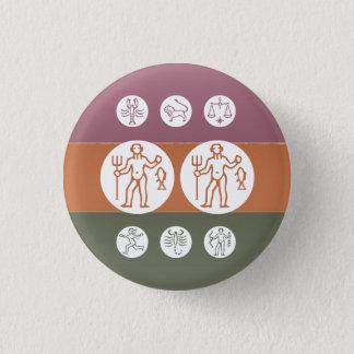 Zodiac Astrology Symbol : BirthStar Goodluck Charm Pinback Button