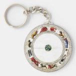 Zodiac Basic Round Button Keychain