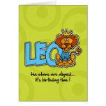Zodiac Birthday - Leo Greeting Cards