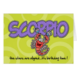 Zodiac Birthday - Scorpio Greeting Card