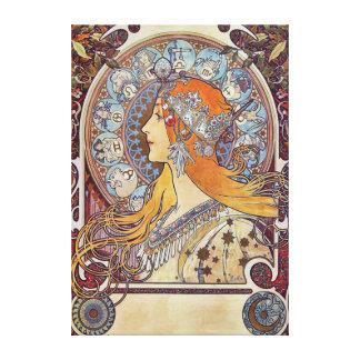 Zodiac by Alphonse Mucha Canvas Print