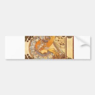 Zodiac by Mucha Bumper Stickers