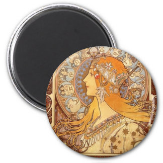 Zodiac by Mucha Refrigerator Magnets