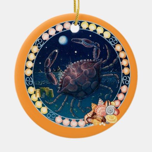 Zodiac Cancer - Customize it! Ceramic Ornament