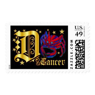 Zodiac-Cancer-Font-Design-2-D Sello Postal