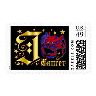 Zodiac-Cancer-Font-Design-2-J Postage