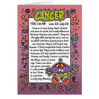 Zodiac - Cancer Fun Facts Greeting Card