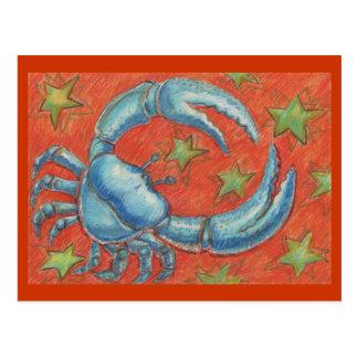 Zodiac Cancer postcard