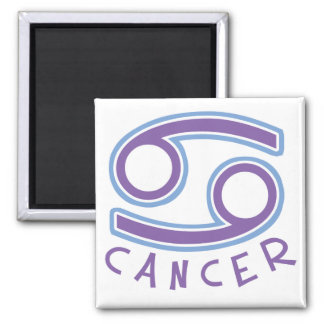 Zodiac Cancer Square Magnet