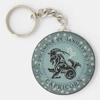 Zodiac Capricorn Basic Round Button Keychain