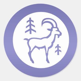 ZODIAC Capricorn Classic Round Sticker