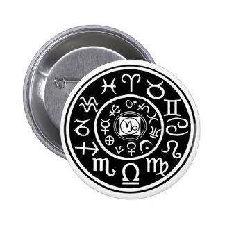 Zodiac - Capricorn Constellation Button