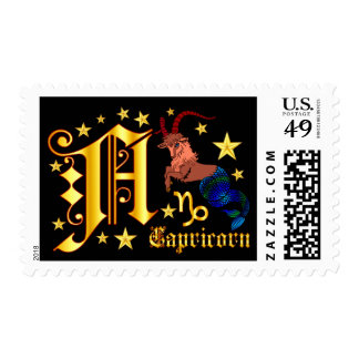 Zodiac-Capricorn-Font-Design-1-A Postage