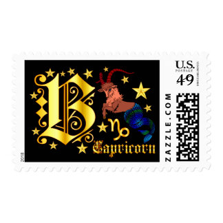 Zodiac-Capricorn-Font-Design-1-B Postage