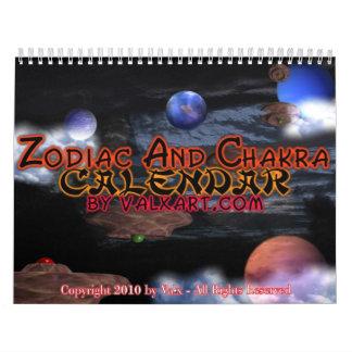 Zodiac & Chakra Calendar