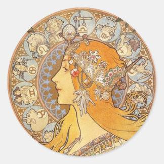 Zodiac Classic Round Sticker