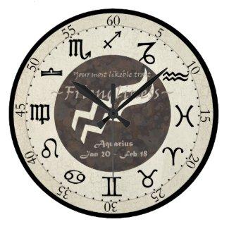 Zodiac Clock - Aquarius