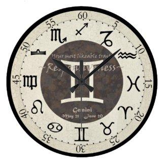 Zodiac Clock - Gemini