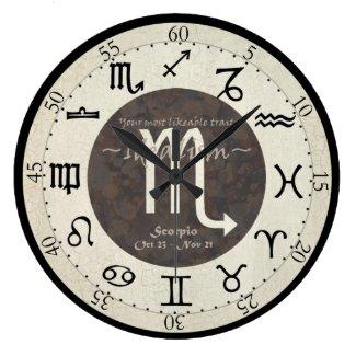 Zodiac Clock - Scorpio