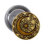 Zodiac Crescent Moon Pinback Button