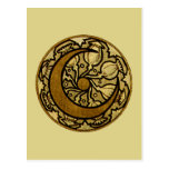Zodiac Crescent Moon Post Cards
