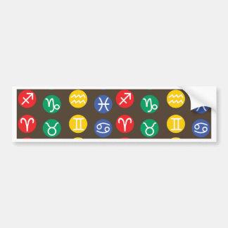 Zodiac Element Symbol Bumper Sticker