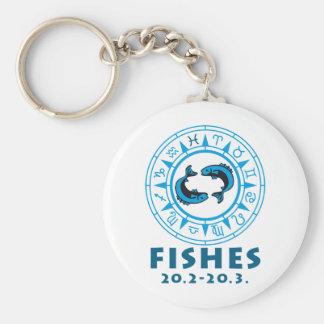 zodiac fish keychain