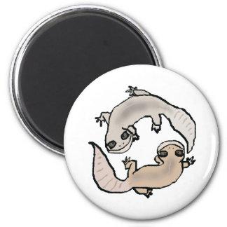 Zodiac Gecko - Cancer 2 Inch Round Magnet