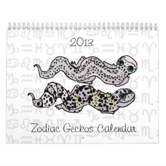 Zodiac Geckos 2013 Calendar