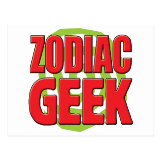 Zodiac Geek Postcard