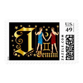 Zodiac-Gemini-Font-Design-2-J Postage