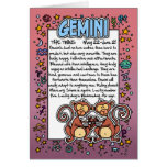 Zodiac - Gemini Fun Facts Greeting Card