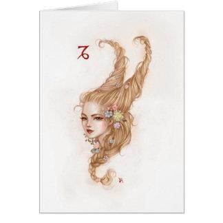 Zodiac Girl Greeting Card: Capricorn Card