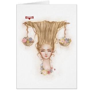Zodiac Girl Greeting Card: Libra Card