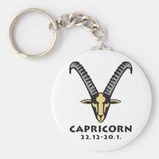 zodiac goated horned keychain