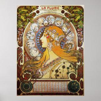 Zodiac Goddess Poster