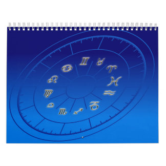 Zodiac golden signs calendar
