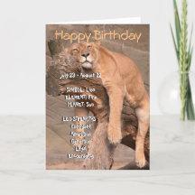 Zodiac Happy Birthday Card - Leo