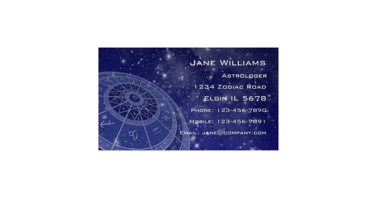 astrology business cards - Fieldstation.co
