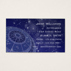 Zodiac Horoscope Business Card at Zazzle
