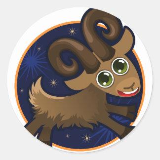 Zodiac Horoscopes Classic Round Sticker