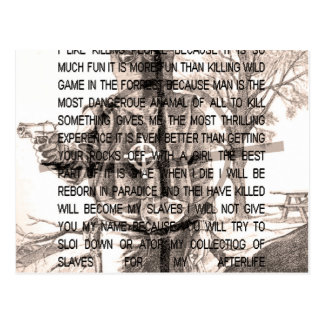Zodiac killer postcard