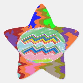 ZODIAC Labels, Decorations, Paper Craft Greeting Star Sticker