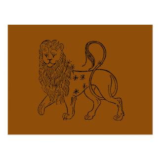 Zodiac: Leo, 1494 Postcard