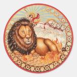 Zodiac Leo - Customize it! Round Sticker