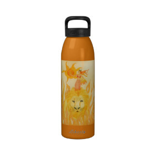 zodiac leo fairy water bottle